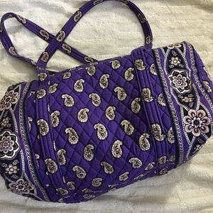 AUTHENTIC Vera Bradley Small Purple Duffle Bag